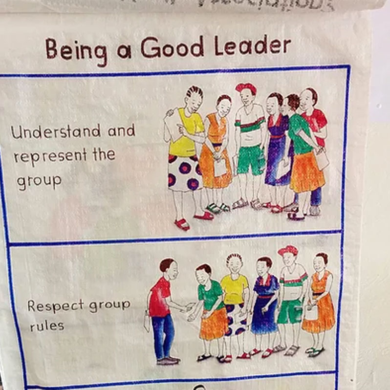 Poster describing how to be a good leader